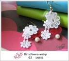 EA0055 - flirty flowers earrings