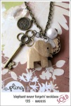 NA0035 – 'elephant never forgets'necklace
