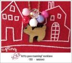 NA0043 – 'kitty goes roaming!'necklace