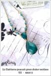 NA0012 - Liz Clairborne peacock green choker necklace