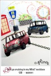 NA0091 - 'let's go cruising in my Mini!' necklace