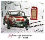 NA0093 - mini cooper sports necklace