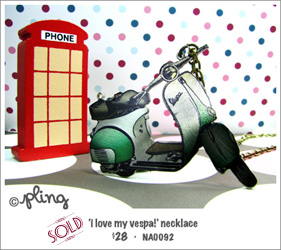 NA0092 - 'i love my vespa!' necklace