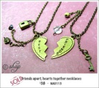 NA0113 - 'friends apart, hearts together' necklace