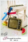 NA0132 - retro goggle box necklace