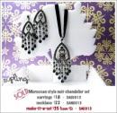 SA0013 - Morrocan style noir chandelier set