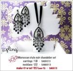 SA0013 – Morrocan style noir chandelierset
