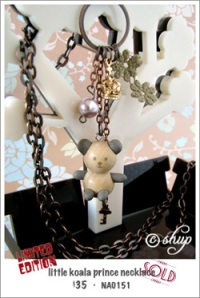 NA0151 - little koala prince necklace