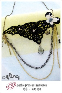 NA0156 - gothic princess necklace