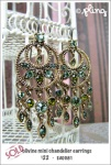 EA0081 – olivine mini chandelierearrings