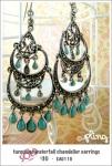 EA0110 – turquoise waterfall chandelierearrings