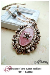 NA0108 - romance of jane austen necklace