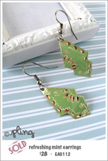 EA0112 - refreshing mint earrings