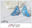 EA0118 - blue dove earrings
