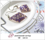 EA0124 - pastel lavender earrings