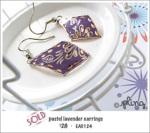 EA0124 - pastel lavender earrings