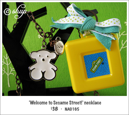 NA0165 - 'Welcome to Sesame Street!' necklace