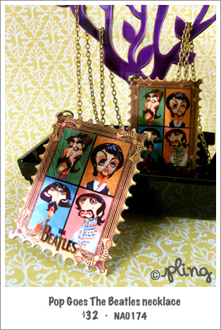 NA0174 - Pop Goes The Beatles necklace