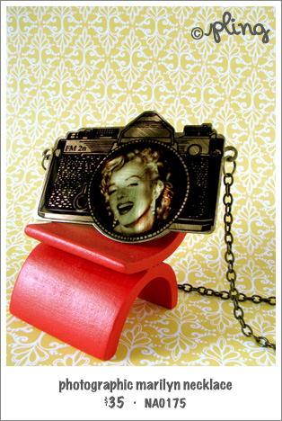 NA0175 - photographic marilyn necklace