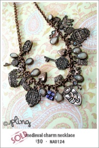 NA0124 - medieval charm necklace