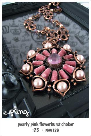 NA0126 - pearly pink flowerburst choker