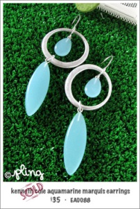 EA0088 - aquamarine marquis earrings