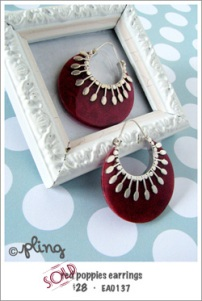 EA0137 - red poppies earrings