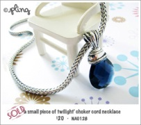 NA0128 - 'a small piece of twilight' choker cord necklace
