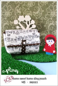 PA0003 - home sweet home sling pouch