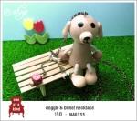 NA0133 – doggie & bone!necklace