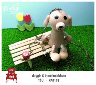 NA0133 - doggie & bone! necklace