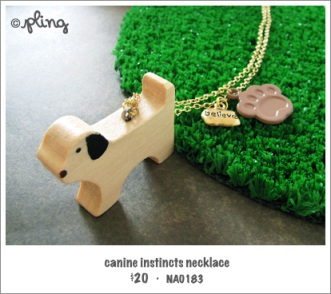 NA0183 - canine instincts necklace