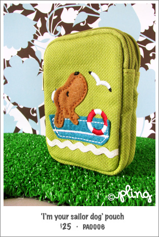 PA0006 - 'I'm your sailor dog' pouch