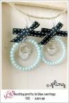 EA0148 - nesting pretty in blue earrings