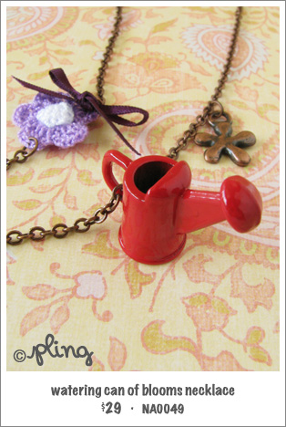 NA0049 - watering can of blooms necklace
