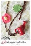 NA0050 - 'big dreams start small' necklace