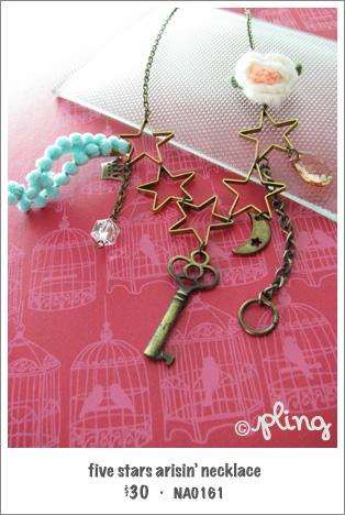 NA0161 - five stars arisin' necklace