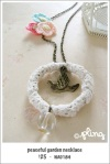 NA0184 - peaceful garden necklace