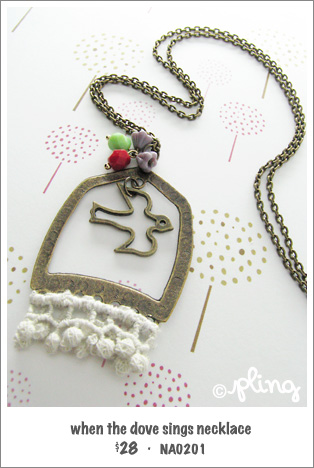 NA0201 - when the dove sings necklace
