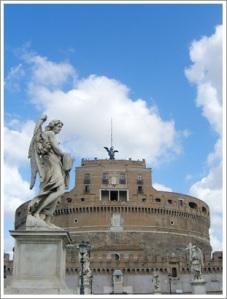 Stone Angel Sculpture along the bridge leading to Castle Sant'Angelo