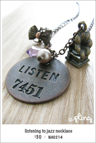 NA0214 - listening to jazz necklace