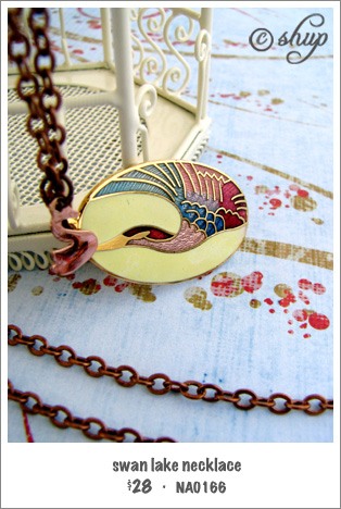 NA0166 - swan lake necklace