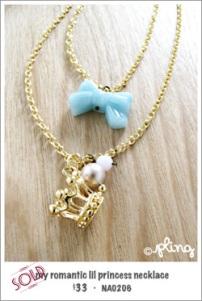 NA0206 - my romantic lil princess necklace