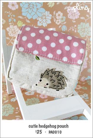 PA0010 - cutie hedgehog pouch