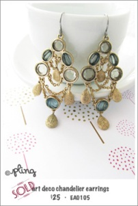 EA0105 - art deco chandelier earrings