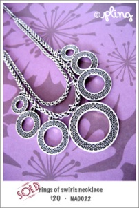 NA0022 - rings of swirls necklace