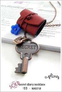 NA0218 - secret diary necklace