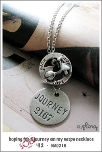 NA0216 - hoping for a journey on my vespa necklace