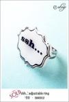 SHR002 - 'shh...' adjustable ring