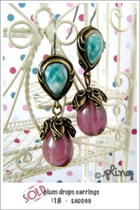 EA0099 - plum drops earrings